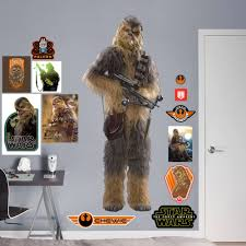 Fathead Chewbacca Star Wars The Force Awakens Life Size Officially Licensed Removable Wall Decal Walmart Com Walmart Com