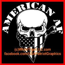 Patriotic American Af As F Car Truck Store Window Decal Sticker Graphic