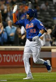 Aaron Altherr of the New York Mets celebrates his sixth inning ...