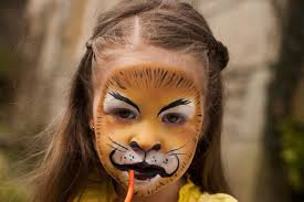 lion face painting at paintingvalley