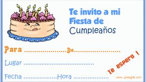 Invitacion Para Cumpleanos Imagenes Y Tarjetas De Cumpleanos