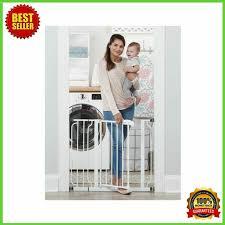 Dog Gate Walk Thru Pet Fence Baby Child Safety Wide Indoor Adjustable Barrier