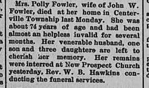 Fowler, Polly, age 74, obit - Newspapers.com