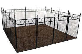 Buy Terra Garden Fence Westchester Gf 1 Protect Beautify 32 Feet Of Fencing Included 36 Inch Tall Animal Barrier Black In Cheap Price On Alibaba Com