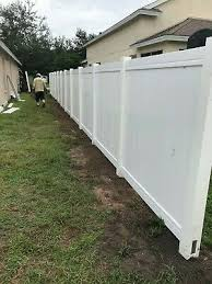 New White Vinyl Privacy Fence 486 Contractor Grade Fence Wholesale Ebay