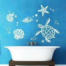 turtle shell vinyl kids room bathroom