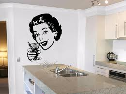 Retro Bar Martini Cocktail Woman Pin Up Wall Decal Sticker M769 Wallstickers4you