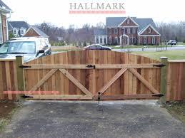 Wood Fence Installation Dc Wood Fence Installation Wood Fence Driveway Gate Diy