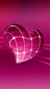 pink heart android wallpaper 3d 2020