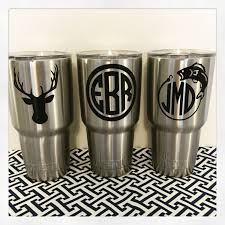 Customized Yeti Tumbler 30 Oz Monogrammed Yeti Tumbler Manly Yeti Monogram Male Yeti Yeti Cup Designs Customized Yeti Tumblers Yeti Cup