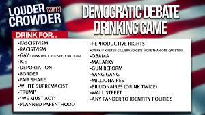 Democratic Debate drinking game ...