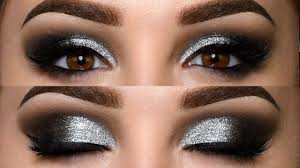 clic black smokey eye with glitter