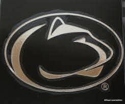 University Penn State Nittany Lions Med Lic Ncaa Window Decal Chrome Sticker For Sale Online