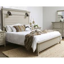 farmhouse rustic taupe king size bed