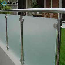 frosted glass balcony barade