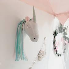 3d Animal Head Decor Kids Room Wall Decoration Hanging Stuffed Animals Unicorn Plush Toy Doll Gifts Children Bedroom Accessories Plush Wall Stuff Aliexpress