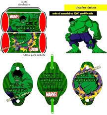 Kit Imprimible Invitaciones El Increible Hulk 49 00 En Mercado