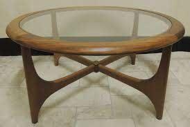 retro nathan glass top coffee table