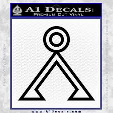 Stargate Decal Sticker Earth Symbol A1 Decals
