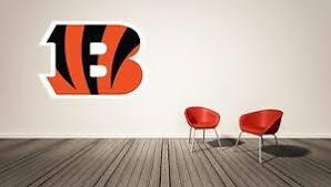 Cincinnati Bengals Wall Decal Sport Logo Nfl Vinyl Home Decor Room Ebay