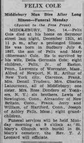 Felix Cole Obituary - Newspapers.com