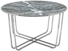 lottie grey glossy round coffee table
