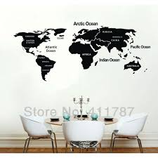 New Cool World Map Removeable Wall Stickers Wall Decals 103cmx45cm