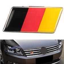 Aluminium German Germany Flag Badge Grille Emblem Car Sticker Decal Universal Decoration Sale Banggood Com