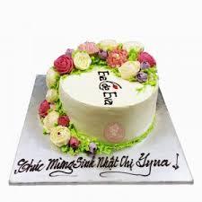 Bánh trái tim trang trí hoa hồng tím – Hải Nguyễn Nicecake