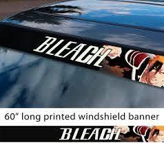 Buy 60 Bleach V7 Soul Ichigo Shinigami Kuchiki Urahara Anime Manga Sun Strip Printed Windshield Car Vinyl Sticker Decal