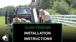 How To Install Flex Fence For Horses And Livestock Ramm Flex Fence Installation Instructions Youtube