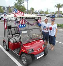 golf carts with patriotic themes