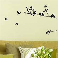 Amazon Com Picniva Birds Flying Tree Branches Wall Sticker Vinyl Art Decal Mural Home Decor Home Kitchen