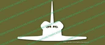 Nasa Space Shuttle Front Vinyl Die Cut Sticker Decal Vsfspf