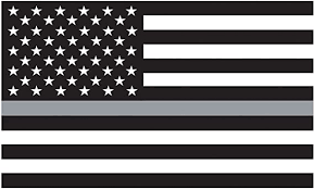 Amazon Com Morale Tags Thin Grey Line American Flag 3x5 Vinyl Decal Sticker For Cars Trucks Laptops Etc Black And White Black And White Automotive