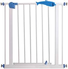 Baby Gate Expandable Fence Baby Gates For Stairs Child Protection Door Pet Isolation Door Free Punching Dual Lock Self Closing Color White Size 66 74cm Amazon Co Uk Kitchen Home