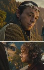 Lord Elrond and Bilbo- seriously all the sassy looks in this ...