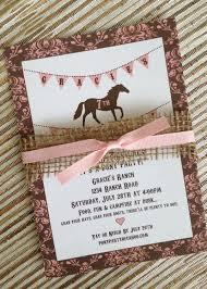 Diy Printable Pony Party Invitation Vintage Style Shabby Chic