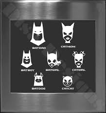 Your Choice Of 5 Batman Bat Family Decals Please Read Description For Ordering Instructions Car Decal Family Decal Batman Bat Family Batman And Catwoman