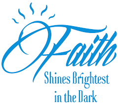 Faith Shines Brightest In The Dark Vinyl Decal Sticker Quote Large Sky Blue Walmart Com Walmart Com