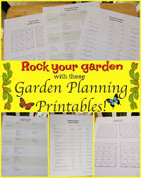 vegetable garden planner printables