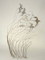 Artchipel — Celia Smith - Flying dunlin. Copper wire and...