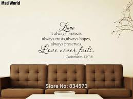 1 Corinthians 13 7 8 Love Never Fails Wall Art Stickers Wall Decals Home Diy Decoration Removable Room Decor Wall Stickers Wall Stickers Aliexpress