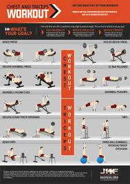 printable chest and triceps workout pdf