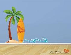 Wall Decal Surfboard Sand And Waves Fabric Wall Decal Print Set Surfboard Wall Art Fabric Wall Decals Surfboard Wall Art Surfboard Wall