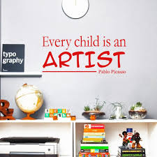 Cada Nino Es Un Artista Wall Decal Children Artwork Display Decor Every Child Is An Artist Picasso Quote Sticker