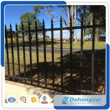 China New 3000 1700mm Galvanized Garden Security Wrought Iron Fence Designs Decorative Garden Steel Fencing China Fence Wrought Iron Fence
