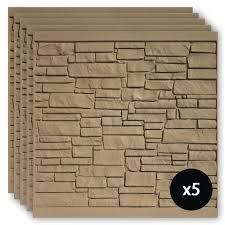Simtek 6 Ft X 6 Ft Ecostone Brown Composite Fence Panel Pack Fp72x72brn5 The Home Depot