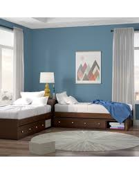New Bargains On Granville Twin Platform L Shaped Bed With Storage Three Posts Baby Kids Bed Frame Color Chocolate