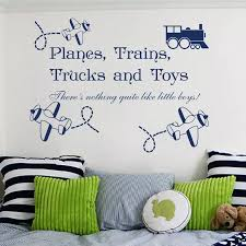 Kids Room Wall Sticker Wall Decal Quotes Planes Trains Trucks Toys Decals Boy Room Decor Sticker Curving Kids Room Mural D 111 Wall Decals Quotes Sticker Wall Decalwall Decals Aliexpress